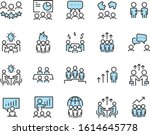 set of teamwork icons  meeting  ... | Shutterstock .eps vector #1614645778
