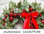 Beautiful Red Christmas Wreath...