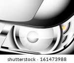 close up glossy car headlight | Shutterstock .eps vector #161473988