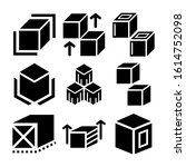cube icon isolated sign symbol...   Shutterstock .eps vector #1614752098
