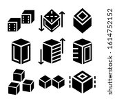 cube icon isolated sign symbol...   Shutterstock .eps vector #1614752152