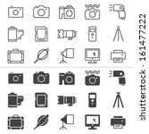 photography thin icons ... | Shutterstock .eps vector #161477222