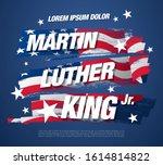 martin luther king day banner... | Shutterstock .eps vector #1614814822