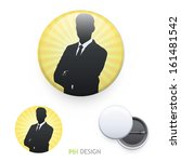 business man with his arms... | Shutterstock .eps vector #161481542