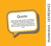 quote design speech bubble...   Shutterstock .eps vector #1614816412