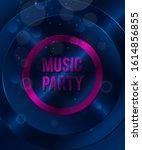 music party background  premium ... | Shutterstock .eps vector #1614856855