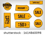 sale sticker set  big... | Shutterstock .eps vector #1614860098