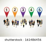 businessman and numbering... | Shutterstock .eps vector #161486456