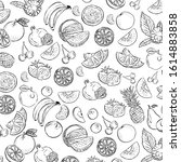 organic food doodle set icons    Shutterstock .eps vector #1614883858