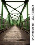 narrow long footbridge with... | Shutterstock . vector #161488835