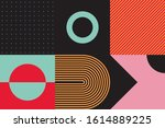 brutalism art inspired abstract ... | Shutterstock .eps vector #1614889225