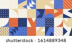 modern artwork of abstract... | Shutterstock .eps vector #1614889348