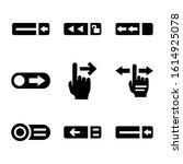 lock slider icon isolated sign...
