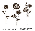 Set Of Decorative Rose With...
