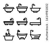 bathtub icon isolated sign... | Shutterstock .eps vector #1614981832