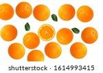 orange citrus fruit on white... | Shutterstock . vector #1614993415