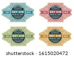 vintage gin label packaging... | Shutterstock .eps vector #1615020472
