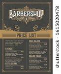 barbershop price list flyer....   Shutterstock .eps vector #1615020478