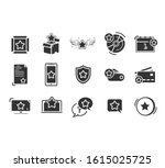 loyalty line icons. bonus card  ... | Shutterstock .eps vector #1615025725