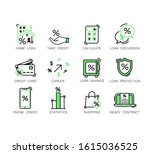 simple set of loan related...   Shutterstock .eps vector #1615036525