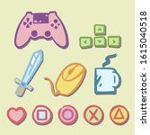 isolated gamer's attributes.... | Shutterstock .eps vector #1615040518
