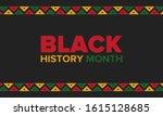 black history month. african... | Shutterstock .eps vector #1615128685
