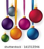 Christmas Balls. Vector.