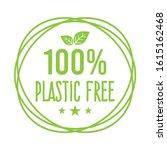 plastic free green icon badge... | Shutterstock .eps vector #1615162468