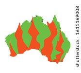 australia green silhoette.... | Shutterstock .eps vector #1615169008