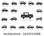 solid icons set transportation... | Shutterstock .eps vector #1615213408
