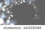 winter transparent snowflakes... | Shutterstock .eps vector #1615220185
