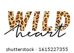 vector illustration with wild... | Shutterstock .eps vector #1615227355