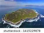 Aerial photo of Robben Island