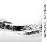 black tire track background.... | Shutterstock .eps vector #161523305