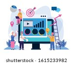 elegant business people workers ... | Shutterstock .eps vector #1615233982