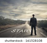 businessman in front of a... | Shutterstock . vector #161528108