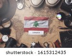 lebanon flag between traveler's ... | Shutterstock . vector #1615312435