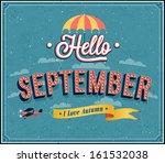 hello september typographic... | Shutterstock .eps vector #161532038