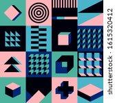 seamless geometric pattern...   Shutterstock .eps vector #1615320412