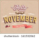 hello november typographic... | Shutterstock .eps vector #161532062