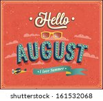 hello august typographic design.... | Shutterstock .eps vector #161532068