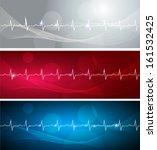 cardiogram banners  various...   Shutterstock . vector #161532425