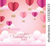 valentine card with beautiful...   Shutterstock .eps vector #1615328215