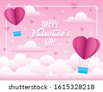 valentines day card with...   Shutterstock .eps vector #1615328218