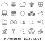 cloud network icons thin line... | Shutterstock .eps vector #1615342795