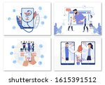e health  online doctor search... | Shutterstock .eps vector #1615391512