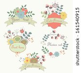 cute flower set with romantic... | Shutterstock .eps vector #161540915