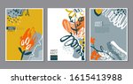 vector collection of trendy... | Shutterstock .eps vector #1615413988