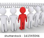3d people form a big circle but ... | Shutterstock . vector #161545046