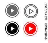 online video play buttons red... | Shutterstock .eps vector #1615472158